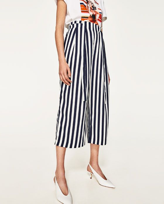 b0f9e788791 Four flattering ways to style striped culottes – The Fashion View